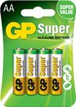 GP Batteries Blister da 4 pile Stilo Super Alcaline tipo AA