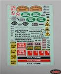 RC4ZB0038 Gelande 2 Decal Sheet for Land Rover Defender D90 Hard Plast RC4WD