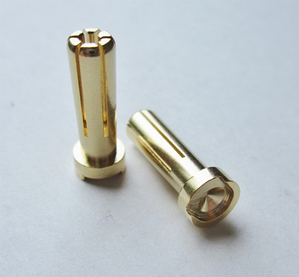 2507 TQ Racing connettori testa piatta 5x15mm battery plug (2) GOLD